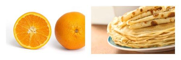 crêpes d'or à la crème à l'orange