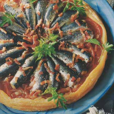 Feuilletage de sardines fra ches aux lardons de ventr che - Cuisiner des filets de sardines fraiches ...