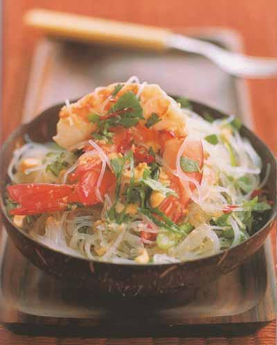 Fabuleux Salade de vermicelles aux crevettes ( Thaï ) - Recettes d'Hubert VT23